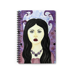 Spiral Purple Fairy Notebook - Ruled Line