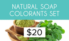 Natural Colorants Set for Soap Making