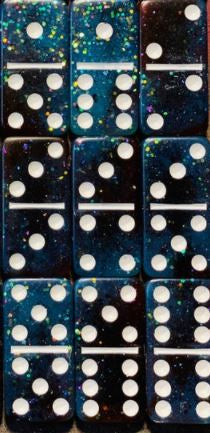 Double 12 Glitter Domino Set - 91 Dominoes!