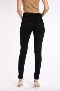 Black Button-Fly Jeans