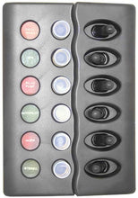 Switch Panels - Waterproof Backlit - 6 Switch With Circuit Breaker - bosunsboat