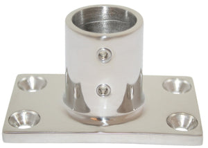 Rail Fitting 90 Degree Rectangle base - 22mm