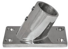 Rail Fitting 60 Degree Rectangle Base - 22mm - bosunsboat
