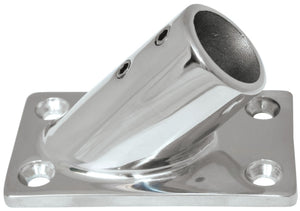 Rail Fitting 45 Degree Rectangle Base - 22mm