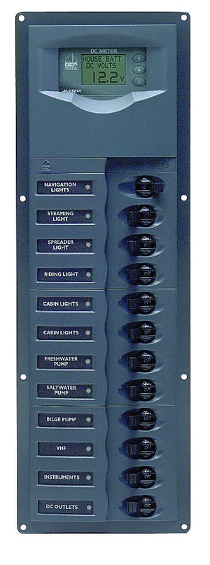 BEP 'CONTOUR' CIRCUIT BREAKER 12 CIRCUIT 127 x 380mm
