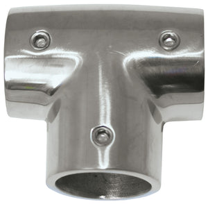Rail Fittings - Stainless 90 Degree Tee 22MM