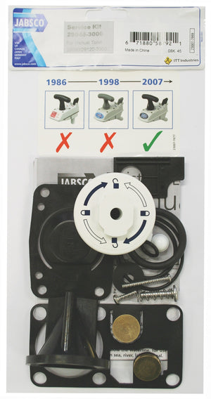 JABSCO TOILET SERVICE KIT - MK2 MANUAL TOILET - bosunsboat