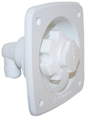 WATER PRESSURE REGULATOR WHITE FLUSH MOUNT 45 PSI - bosunsboat