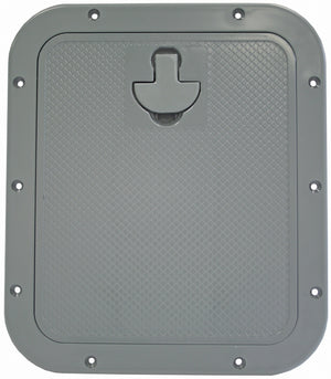 STANDARD HATCHES WITH REMOVABLE LIDS - RECTANGULAR STYLE, GREY - bosunsboat