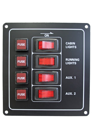 ALLOY ILLUMINATING SWITCH PANELS