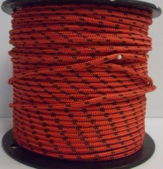 Rope - Spectra 10mm Red with Black Fleck  - Per/Meter