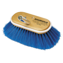 "Shurhold Deck Brush 6"" - 15cm - Blue - Extra Soft Bristle - bosunsboat"