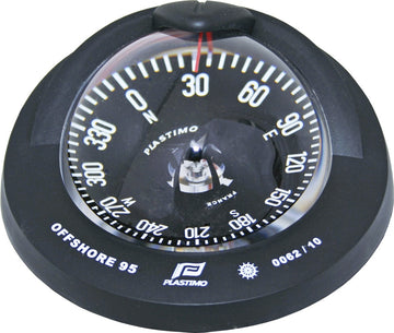 OFFSHORE 95 POWERBOAT COMPASS - FLUSH MOUNT, BLACK, FLAT