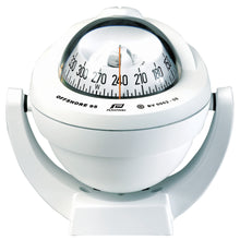 OFFSHORE 95 POWERBOAT COMPASS - BRACKET MOUNT, WHITE, CONICAL - bosunsboat