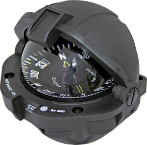 OFFSHORE 105 POWERBOAT COMPASS - FLUSH MOUNT, BLACK, FLAT - bosunsboat