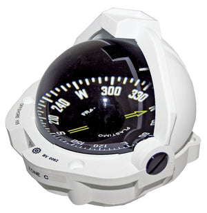 OFFSHORE 105 POWERBOAT COMPASS - FLUSH MOUNT, WHITE, FLAT