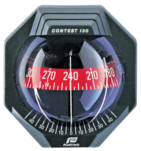 CONTEST 130 SAILBOAT COMPASS - BULKHEAD VERTICAL MOUNT, BLACK WITH RED CARD
