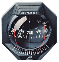 CONTEST 130 SAILBOAT COMPASS - BULKHEAD VERTICAL MOUNT, BLACK WITH BLACK CARD