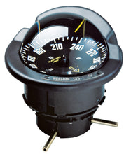 OFFSHORE 135 POWER & SAILBOAT COMPASS - BLACK FLUSH COMPASS WITH BLACK CARD - bosunsboat