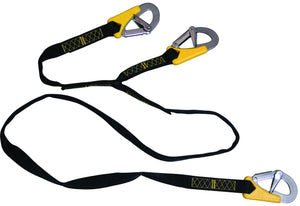 LALIZAS SAFETY TETHERS 3 HOOK LINE - 2 METRE LENGTH - bosunsboat