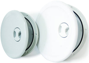 ACCESS HATCHES - ROUND HINGED: GREY, LARGE 334mm DIA - bosunsboat