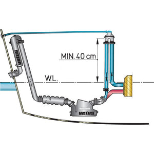 VETUS ANTI SYPHON DEVICE WITH HOSE, FOR 13/19/25/32 MM HOSE - bosunsboat