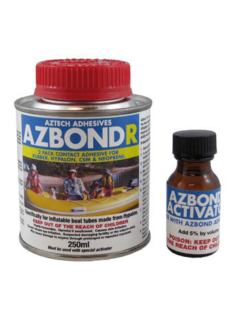AZBOND R HYPALON 250ML KIT - GLUE AND PATCHES