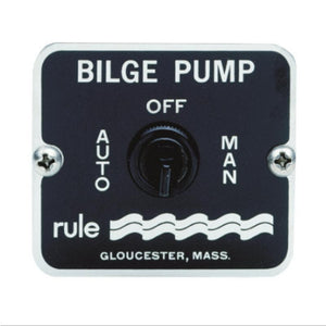 BILGE PUMP CONTROL PANELS - 3 WAY CONTROL SWITCH