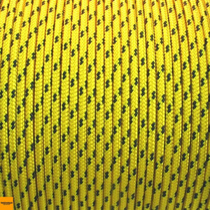 Rope - Spectra 8mm Yellow with Black Spec - Per/Meter - bosunsboat