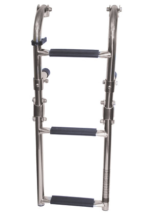 STAINLESS BOARDING LADDER - NARROW - bosunsboat