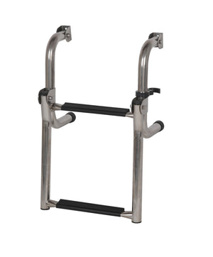 STAINLESS STEEL SHORT BASE LADDER 2 STEP OCEANSOUTH - bosunsboat