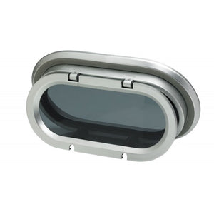 VETUS PORTHOLE, TYPE PM121, AI, CUT-OUT SIZE 270X148MM, R= 74, INCL. MOSQ. SCREEN - bosunsboat