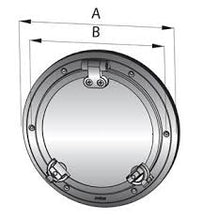 VETUS PORTHOLE, S/S AISI 316, CUT-OUTSIZE 198 MM, CATEGORY A I, INCL. MOSQUITO SCREEN - bosunsboat