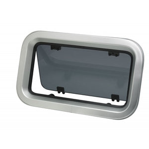 VETUS PORTHOLE, TYPE PZ613, CUT-OUTSZE 277X140, R=54MM, ALUMINIUM, CAT. A III, , INCL. MOSQ. SCREEN - bosunsboat