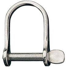 "Shackle - Wide  Dee 3/8"" 9.5mm pin dia.- RF640 - bosunsboat"
