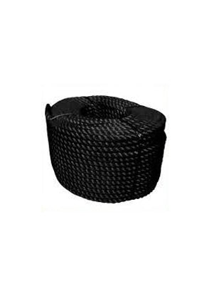 Rope - Polyester 3 Strand - 20mm - Black