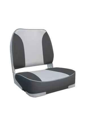 DELUXE FOLD DOWN SEAT UPHOLSTERED GREY CHARCOAL. OCEANSOUTH