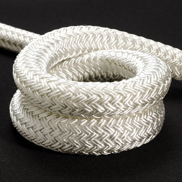 Rope - Double Braid 12mm Solid White - Per/Meter
