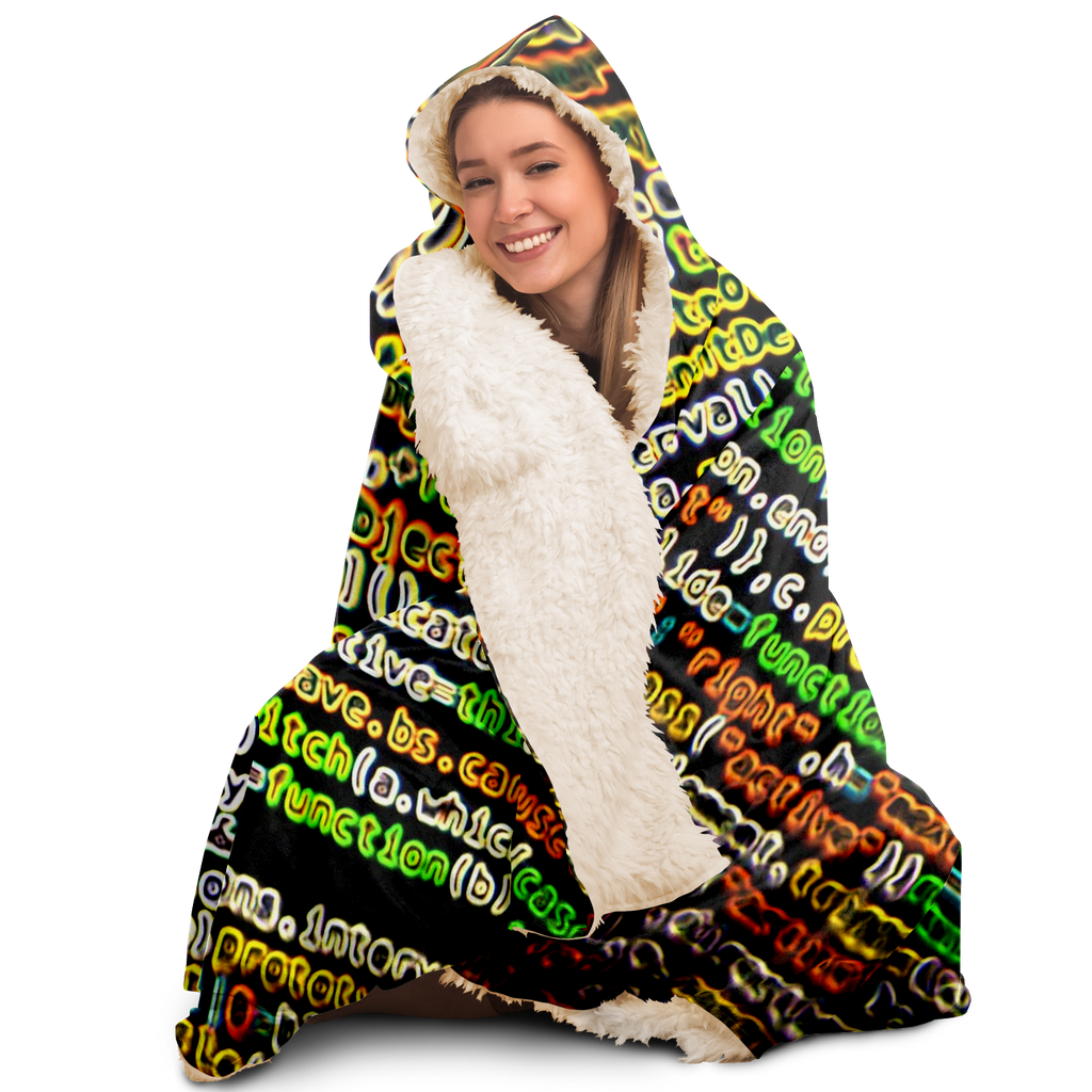 ItsInTheCode  Hooded Blanket