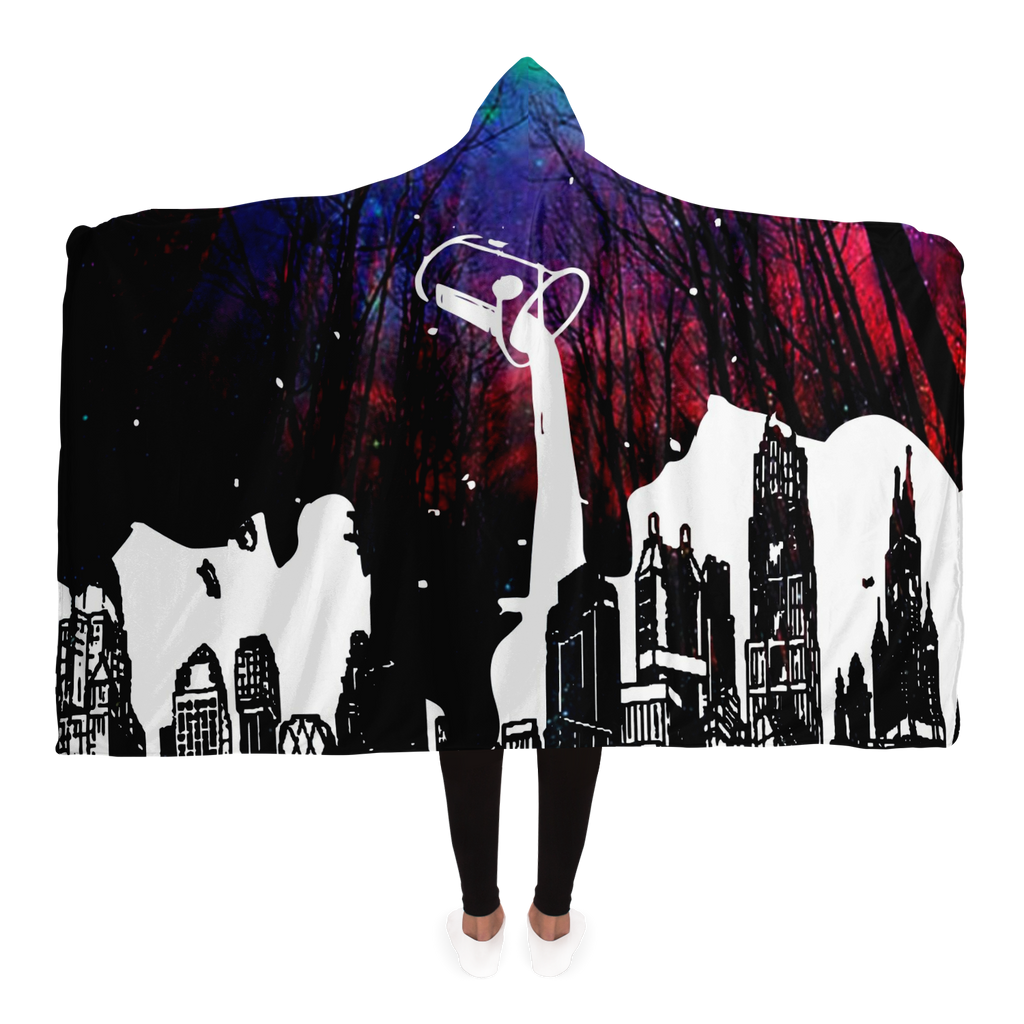 Liquid City Hooded Blanket