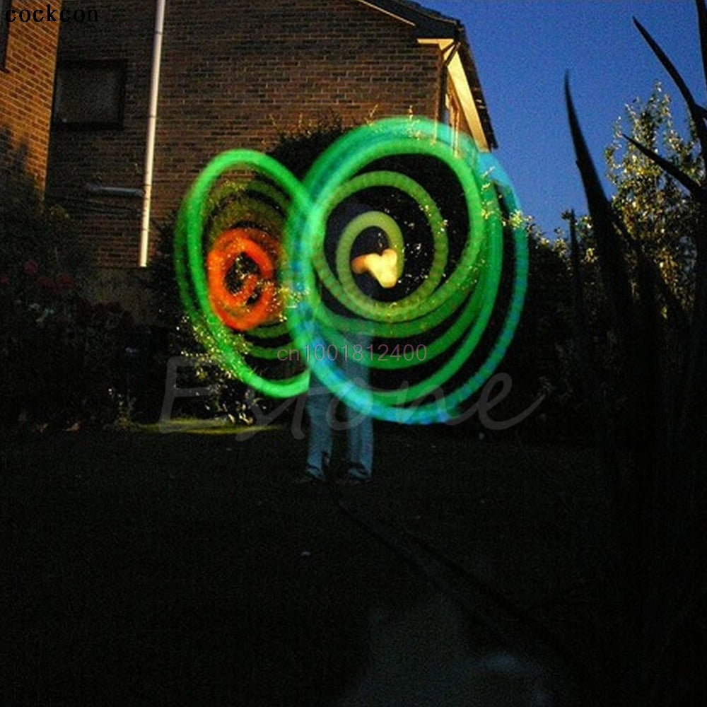 Multi-Coloured Glow LED POI  Balls with cord 2 pcs