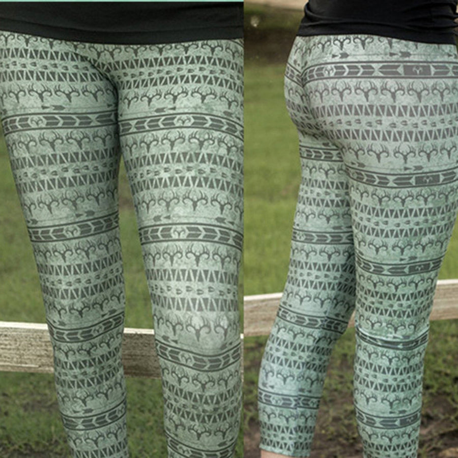Women Xmas Sports Gym Yoga Running Fitness Leggings Pants Athletic Trouse