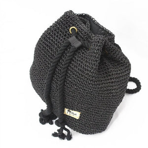 Summer Straw Bag Women Backpack Fashion Rucksack Weaved For Girls Mochila Backpack Travel Beach Straw Bags Women Shoulder Bag