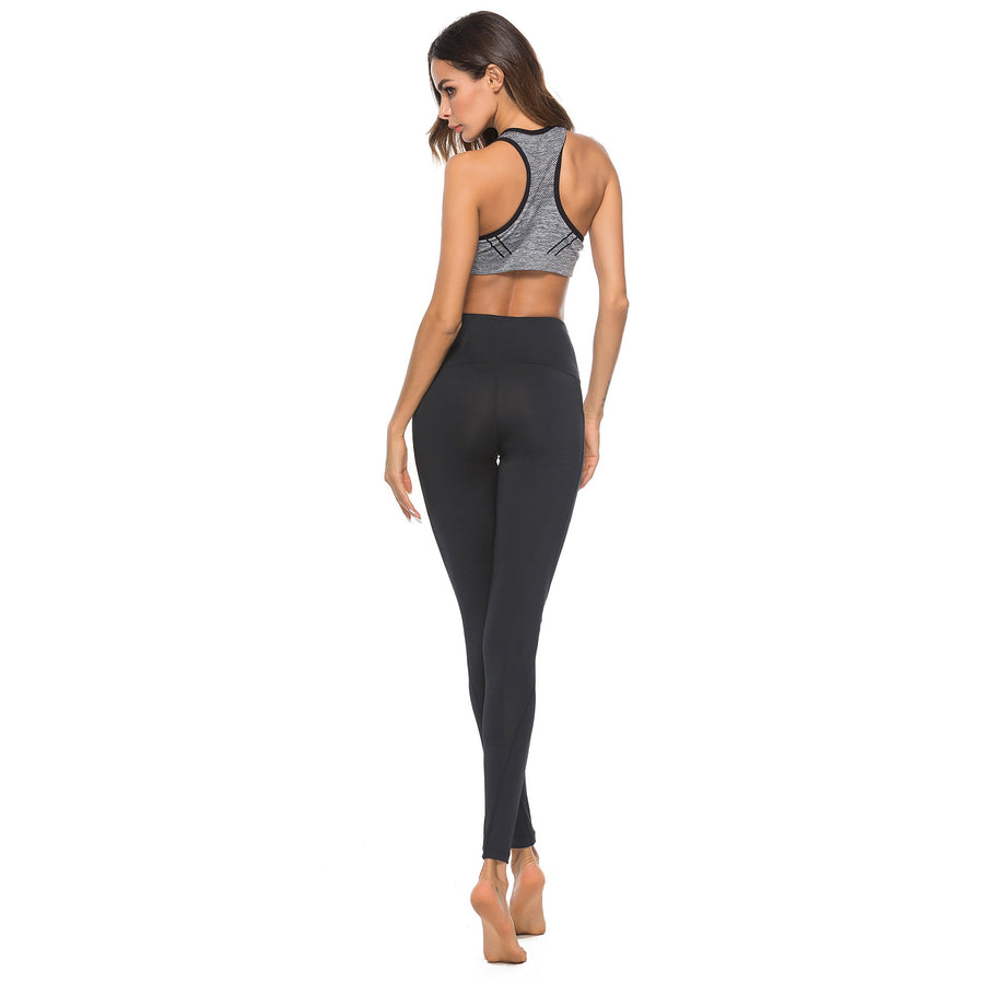 Athletic Women Yoga Leggings Pockets High Waist Yoga Clothes