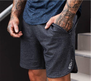 New Men Fitness Bodybuilding Shorts Man Summer Gyms Workout Male Breathable Mesh Quick Dry Sportswear Jogger Beach Short Pants