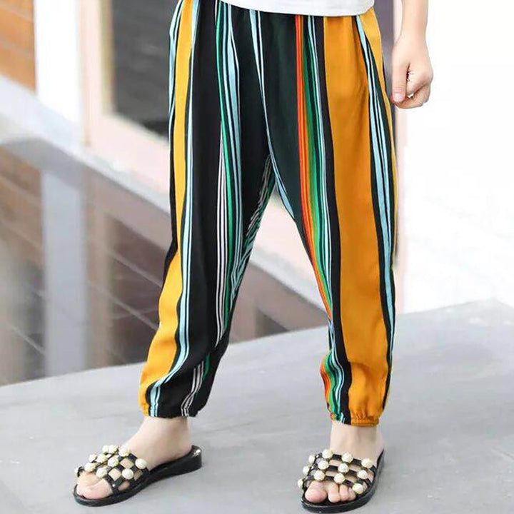 Selling Lantern Pants Or Mosquito Pants Rainbow Strip For Men And Women Loose