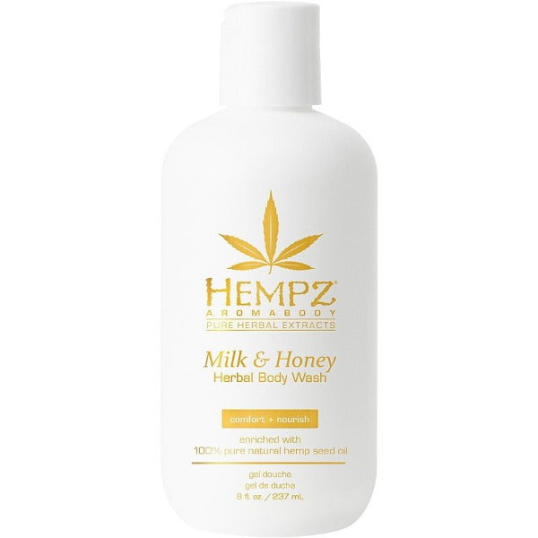 hempz Milk & Honey Herbal Body Wash 8oz