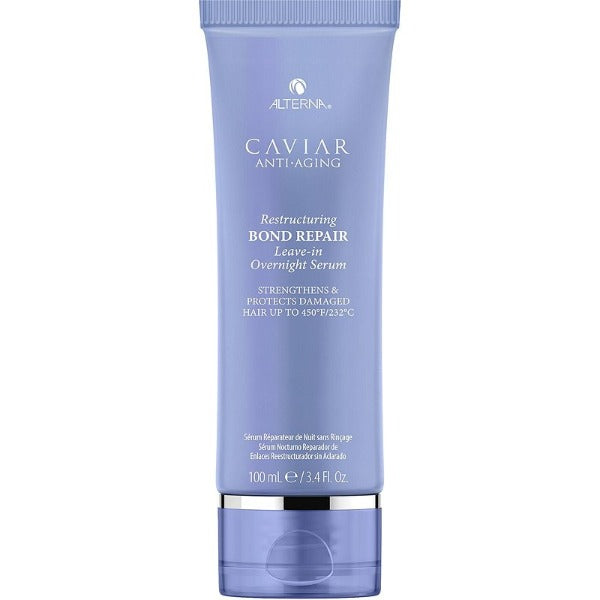 alterna CAVIAR ANTI-AGING  RESTRUCTURING BOND REPAIR LEAVE-IN OVERNIGHT SERUM 3.4oz