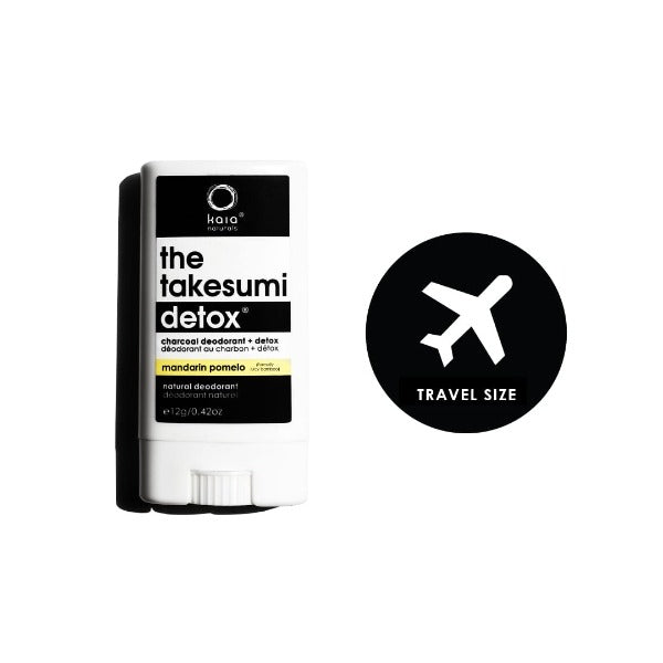 kaia naturals the takesumi detox charcoal deodorant mandarin pomelo travel size