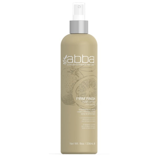 abba firm finish hair spray 8oz